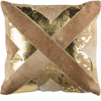 Safavieh Colma Metallic Cowhide Pillow