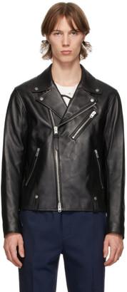 Coach 1941 Black Lambskin Moto Jacket