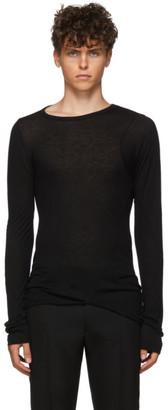 Ann Demeulemeester Black Yves Long Sleeve T-Shirt