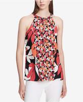 Calvin Klein Mixed-Print Halter Top