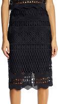KENDALL + KYLIE Crochet Pencil Skirt