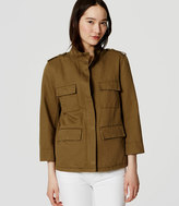 LOFT Linen Cotton Cargo Jacket