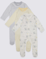Tatty Teddy 3 Pack Pure Cotton Sleepsuits
