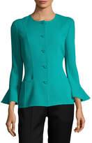 Oscar de la Renta Women's Bell-Sleeve Blazer