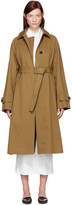 Jil Sander Tan Croquet Trench Coat