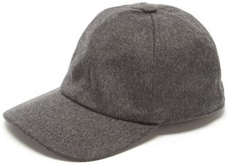 Lock & Co Hatters Rimini Wool Baseball Cap - Mens - Grey