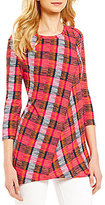 Westbound 3/4 Sleeve Seamed Tunic Top
