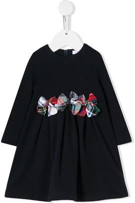Il Gufo Tartan Bow Dress