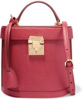 Mark Cross Benchley Textured-leather Shoulder Bag - Crimson