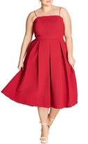 City Chic Plus Size Women's Textured Treat Fit & Flare Dress