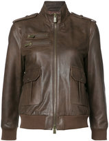 Anine Bing pilot jacket - women - Calf Leather/Viscose - S