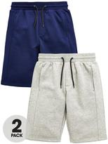 Very 2 Pk Panel Sweat Shorts Light Grey