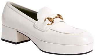 Gucci Leather Houdan Horsebit Loafers