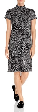 Leota Blaire Mock Neck Animal Print Dress