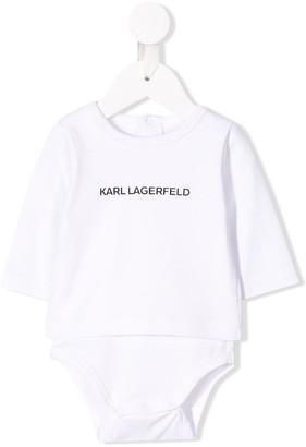 Karl Lagerfeld Paris Logo Print Bodysuit