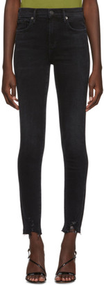 A Gold E Agolde AGOLDE Black Sophie Mid-Rise Ankle Jeans