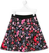 Kenzo teen Paris print skirt - kids - Cotton - 14 yrs