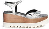 Stella McCartney 'Elyse' star appliqué wood platform mirror sandals