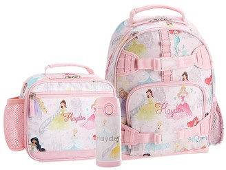 Pottery Barn Kids Mackenzie Disney Princess Castle Shimmer Backpack & Cold Pack Lunch Bundle, Set Of 3