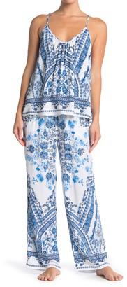 Jonquil Floral Geo Camisole & Pants 2-Piece Pajama Set