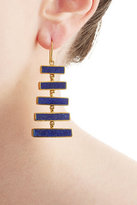 Pippa Small Gold Plated Silver Earrings with Lapis