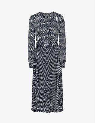 Reiss Kaira graphic-print maxi dress
