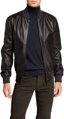 Brioni Men's Leather Bomber Jacket