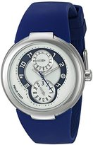 Philip Stein Teslar Women's 31-AN-RN Blue/White and Blue Polished Stainless Steel Watch