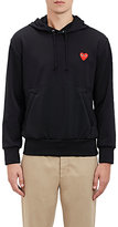 Comme des Garcons Men's Heart Patch Drawstring Hoodie