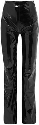 16Arlington Patent-leather Straight-leg Pants