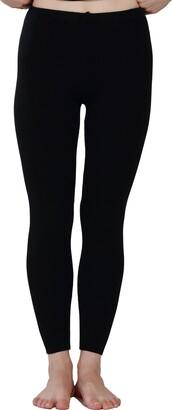 Paradise Silk Silk Cashmere Ribbed Knit Women Thermal Pants Legging[USS