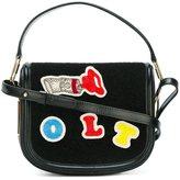 Olympia Le-Tan beaded patch crossbody bag