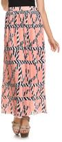 Navy & Pink Geometric Maxi Skirt - Plus Too