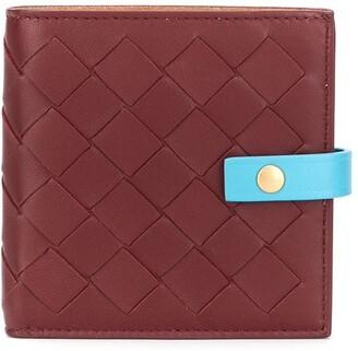 Bottega Veneta intrecciato weave foldover wallet