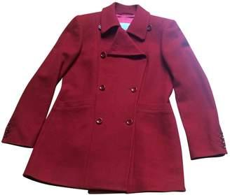 Jigsaw Burgundy Wool Coat for Women
