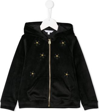 Little Marc Jacobs Hooded Floral Stud Jacket