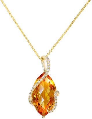 Effy Fine Jewelry 14K 7.04 Ct. Tw. Diamond & Citrine Pendant