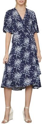 BCBGMAXAZRIA Floral-Print Faux Wrap Dress