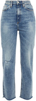 Thumbnail for your product : Rag & Bone Distressed High-rise Slim-leg Jeans