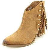 Fergie Bennie Women Pointed Toe Leather Brown Ankle Boot.