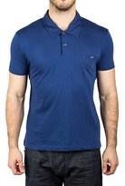 Prada Men's Jersey Sport Pima Cotton Slim Fit Polo Shirt Indigo Blue.