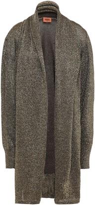 Missoni Draped Metallic Stretch-knit Cardigan