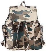 Charlotte Russe Camo Faux Leather Backpack