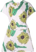 Julien David sunflower print day dress - women - Cotton - XS