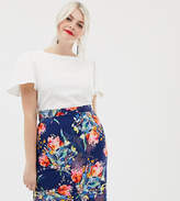 Paper Dolls Plus 2 In 1 Midi Pencil Dress with Printed Skirt