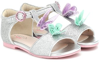 Sophia Webster Mini Riva glitter sandals