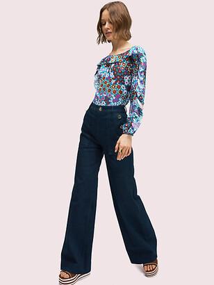 Kate Spade Denim Button Trouser