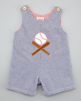 cachcach Ballpark Check Shortalls