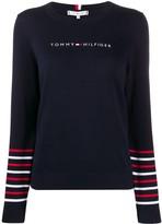 Tommy Hilfiger stripe trim jumper
