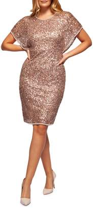 Occasion By Dex Sequin-Embellished Sheath Dress
